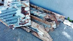 old #rusted #roof #sheeting that fell apart as soon as it was removed