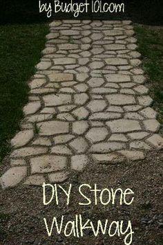 Diy sidewalk