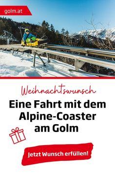 Das perfekte Weihnachtsgeschenk für Adrenalin-Junkies - eine Fahrt mit dem Alpinen-Coaster am Golm. Egal, ob als Tagesausflug oder in Kombination als Urlaub zu Hause in Österreich, diese Fahrt werdet ihr nicht vergessen. Und, seien wir ehrlich: Was gibt es besseres als Zeit mit der Familie?  Weihnachtsgeschenk | Familienausflug in Vorarlberg | Urlaub zu Hause in Österreich |Tagesausflug in Vorarlberg | Alpine Coaster, Coasters, Family Christmas Gifts, Winter Vacations, Ski, Family Vacations, Recovery, Left Out, Coaster