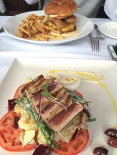 FISH HOUSE @ Stanley park - ahi tuna salad 7/10 #food #vancouver #vancouvereats #salads Ahi Tuna Salad, Vancouver, Stanley Park, Fish House, Salads, Tacos, Ethnic Recipes, Food, Meal