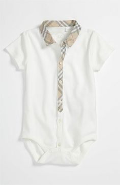 Casual/Formal. White Burberry Bodysuit.