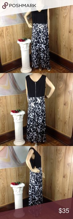 Forever Audrey Black White Floral Maxi Dress 18W This gorgeous dress is brand new with tags. The sides (hip area) have a sexy little side opening for a bit of a flair (see last picture)!  As always offers and bundles are welcome. Feel free to add 1 or more items to a bundle for a private discount offer! Armpit to armpit is 22 inches across Waist is 19 inches across Hips are 30 inches across Length is 52.5 inches Forever Audrey Dresses Maxi