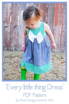 Image of Every Little Thing Dress/Tunic Pattern $6.95