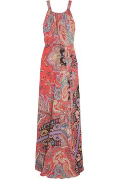 Multicolored silk crepe de chine  Concealed snap-fastening keyhole fastening at back 100% silk Dry clean Made in Italy