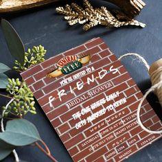 EDITABLE Friends Bridal Shower Invitation Bachelorette Party Invite FRIENDS TV Show Theme Invitation chalkboard invitation printable invite by NewBeginningsByK on Etsy