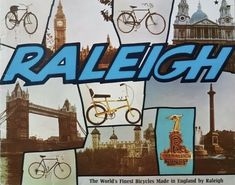 'The Key-way to the Highway ' - The Rise and Fall of Raleigh - 100 years of Ads. Raleigh Bikes, Raleigh Burner, Raleigh Chopper, Cycling Magazine, Champions Of The World, Catalog Cover, Bicycle Brands, Great Names