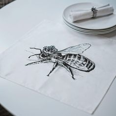 Rory Dobner Queen Bee Napkin - Table Linen - Kitchen - Kitchen, Bed & Bath