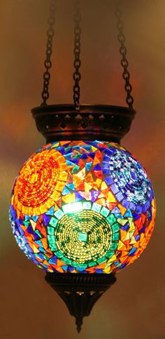 Turkish Style Mosaic Pendant Lamp 15cm mediterranean pendant lighting
