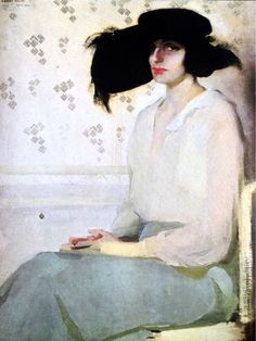 Amedeo Bocchi  (1883 - 1976)Portrait of a Lady, 1914 - Oil on canvas