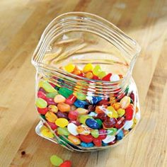 Zippered Plastic Bag Glass Bowl, so cool