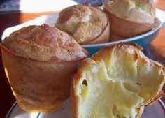 Rosemary, Pear and Brie Popovers