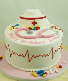Nurse Themed Birthday Cake NurseCake Cute Cakes Ideas Queen