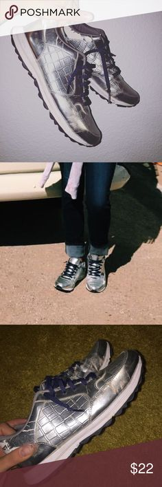 Sam Edelman sneakers Silver sneakers. Worn as pictured. Sam Edelman Shoes Athletic Shoes