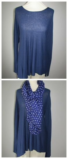 Brighten up this navy Suzy D jumper with a polka dot scarf. Available from love lagenlook clothing.com Polka Dot Scarf, Polka Dots, Suzy, Jumper, Photo Editing, Tunic Tops, Blouse, Clothing, Women
