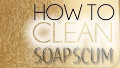 How to clean soap scum off a glass shower door-Lemon juice + cream of tartar = natural miracle cleaner! Mix 2 elements together until it forms a paste – scrub the paste on the glass shower door to rid the ugly soap scum marks, then rinse with water….