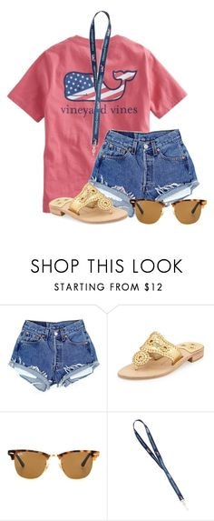 """""""Doodling with @flroasburn☀️"""" by aweaver-2 on Polyvore featuring Jack Rogers and Ray-Ban"""