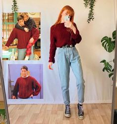 outfits 15 Outfits de en Friends que debe - Vintage Outfits, Retro Outfits, Grunge Outfits, Outfit Jeans, Outfits With Mom Jeans, Vintage T-shirts, Mode Vintage, Vintage Looks, Tv Show Outfits