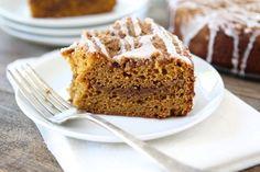 Pumpkin Cinnamon Streusel Coffee Cake | www.twopeasandtheirpod.com #recipe #pumpkin