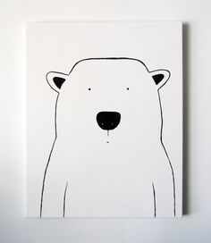 Modern Kids and Nursery Polar Bear Art by adrianeduckworth on Etsy