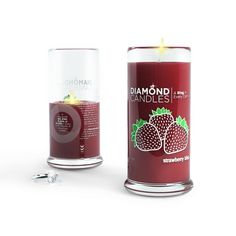 I so want to get one of these. Dimond candles Strawberry shortcake, strawberry pie: enjoy the fragrance of your favorite treats by lighting this juicy candle.