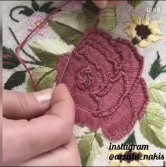 Hand Embroidery Videos, Embroidery Stitches Tutorial, Embroidery Flowers Pattern, Machine Embroidery Projects, Silk Ribbon Embroidery, Crewel Embroidery, Hand Embroidery Designs, Embroidery Kits, Creative Embroidery