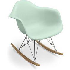 Chaise à bascule Rar Charles Eames Style - Polypropylène Matt Vert pâle                                                                                                                                                                                 Plus