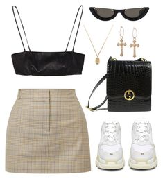 """Untitled #140"" by lonelylola ❤ liked on Polyvore featuring TIBI, Balenciaga, Gucci, Yves Saint Laurent and PAWAKA"