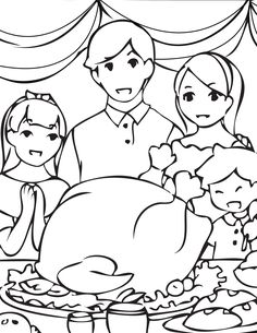 coloring pages of extended family - photo#13