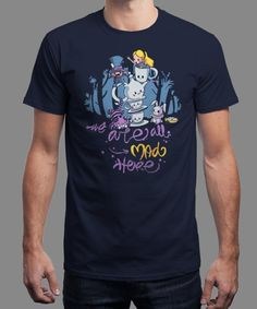 """""""Madness"""" is today's £8/€10/$12 tee for 24 hours only on www.Qwertee.com Pin this for a chance to win a FREE TEE this weekend. Follow us on pinterest.com/qwertee for a second! Thanks:)"""