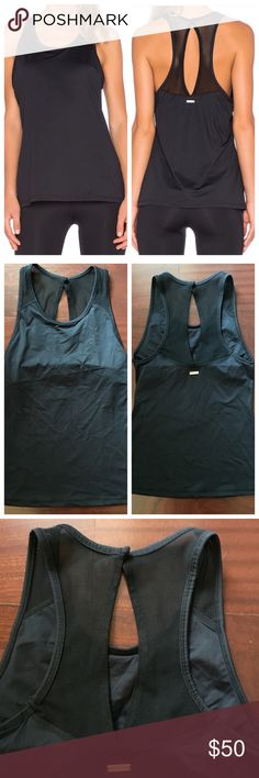 ALALA Snap Back Tank Alala Snap Back Tank. Size Small. Black. Built in shelf bra. No slots for removable cups. Flattering mesh detail with opening on back. Alala Tops Tank Tops