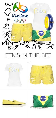 """""""Rio 2016 - Olympics"""" by wearwhatyouwatch ❤ liked on Polyvore featuring art, wearwhatyouwatch, Olympics, GoCanada and rio2016"""
