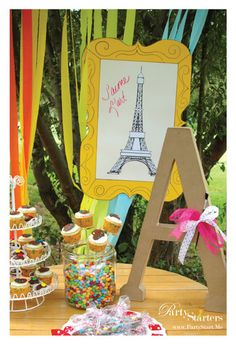 make and take aprons for arty party-cute idea