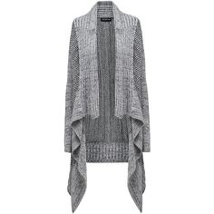 Forever New Holly Textured Cardigan (€70) ❤ liked on Polyvore featuring tops, cardigans, grey mix, forever new, textured cardigan, long sleeve cardigan, grey cardigan and grey top
