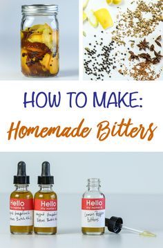 Why Aren't You Making Your Own Bitters? You're only three simple steps away from cocktail genius. Cocktail Bitters, Cocktail Garnish, Cocktail Drinks, Cocktail Recipes, Bar Drinks, Yummy Drinks, Alcoholic Drinks, Beverages, How To Make Bitters