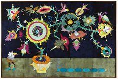 "CHINOISERIE I  2012 coloured woodcut on canvas 200 x 300 cm / 78.74 x 118.11"" GERT & UWE TOBIAS GUT/G 1881/02"