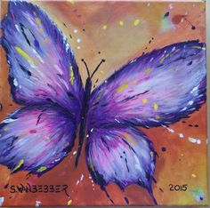 Original Acrylic Butterfly Painting