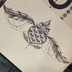 #tattoodesign #tattoosketch #sternum #underboobtattoo #underboob #feathertattoo #feather #hearttattoo #heart #dotwork #linework #lotus