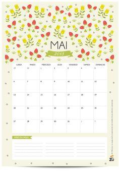 Calendrier MAI 2013 - DIY free printable - Zü