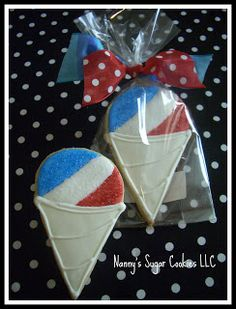 Snow Cone Cookies using Ice Cream Cone Cookie Cutter