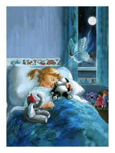 Girl in Bed Attended by Fairy. Giclee print from Art.com
