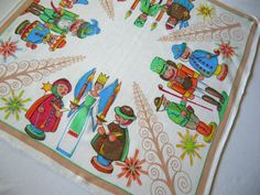 Lovely German Vintage Christmas Tablecloth by linenlaceandthread, $30.00