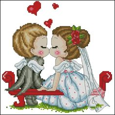 "Free cross-stitch pattern ""Wedding"" | Cross-Stitch Club"