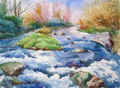 Resultat d'imatges de Temas para pintar a la acuarela agua