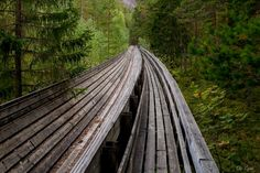 Old log drive by Ole Morten Eyra