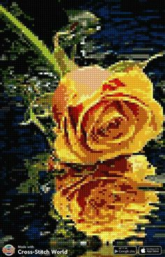 Plastic Canvas Crafts, Stitch 2, Cross Stitch Flowers, Diy And Crafts, Painting, Art, Cross Stitch Pictures, Embroidered Flowers, Punto De Cruz