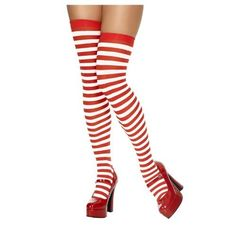 bd7f6f7651c59 Hold Up Stockings - Black with White Bow - Adult: Amazon.co.uk: Toys & Games