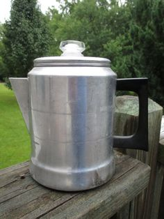 SOLD--Vintage Comet Aluminum Stove Top 7 Cup Percolator Coffee Pot..Made in USA...Retro Kitchenware...Mid Century..Rustic Cabin Collectible by AlloftheAbove on Etsy