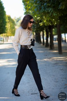 lace up shoes with modern belt and lace up top