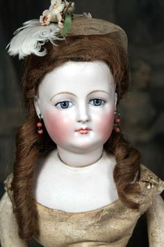 Pale Bisque Early French Fashion Doll in Antique Clothing from signaturedolls on Ruby Lane