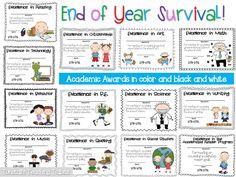 The Last Week Of School Survival- Academic Awards